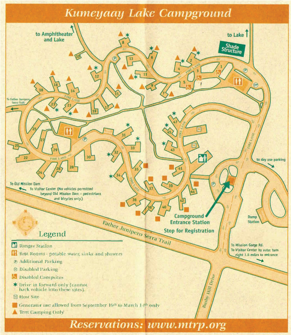 Campgrounds In California Map.Campground Mission Trails Regional Park