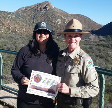 Cynthia Guerrero (with Ranger Chris on right)