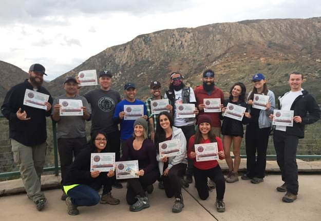 On November 27th, 2015, this group of 16 from L.A., Orange and San Diego Counties, met up through Instagram and completed the 5-Peak Challenge together all in one day!